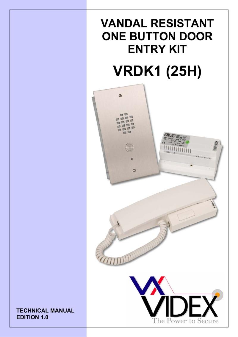Vrdk1 25h Videx Smart 1 Wiring Diagram