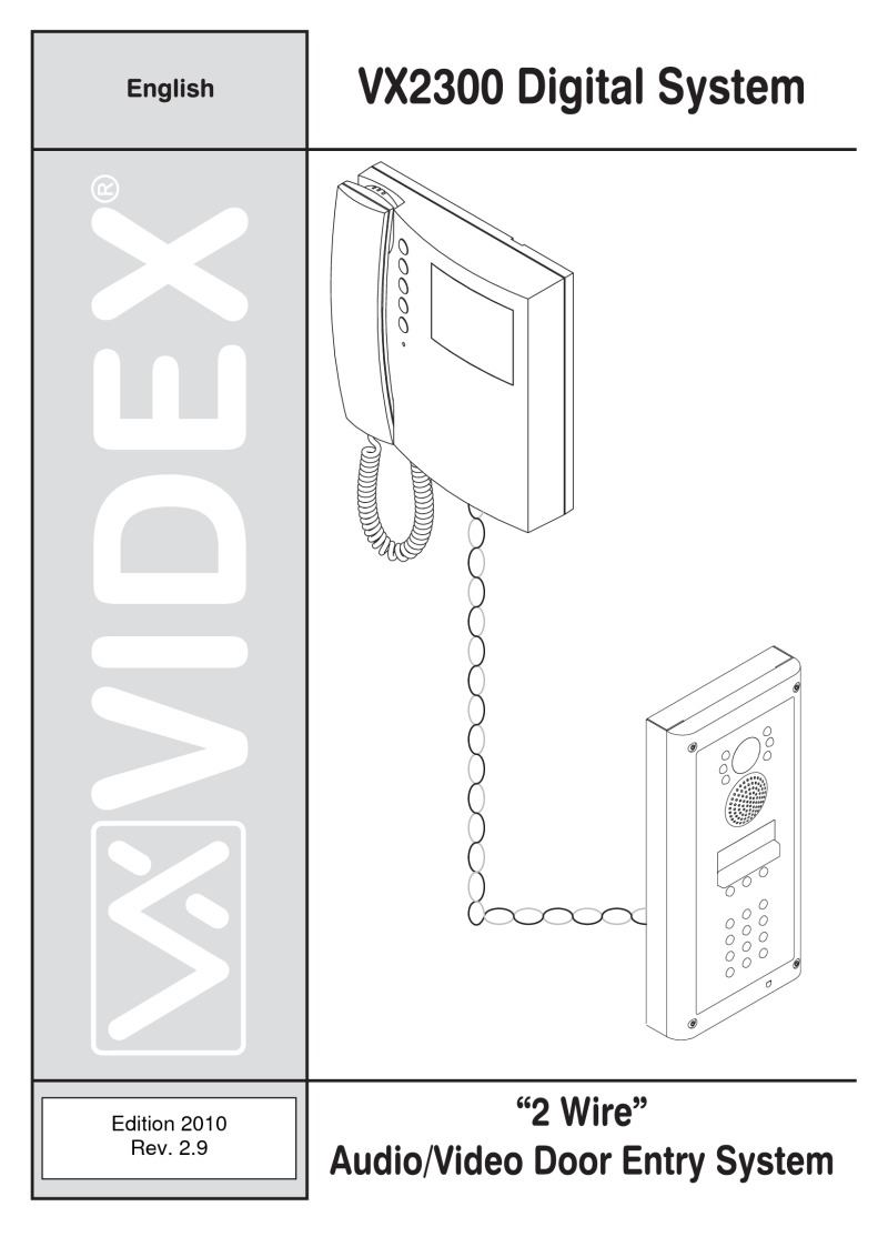 Videx - Colour Video Monitor with Handset for VX2300 System