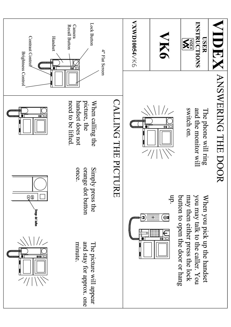 Videx installation instructions videx video vk6 kit user guide asfbconference2016 Image collections