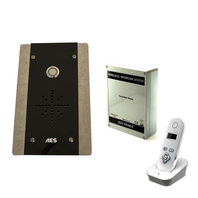 AES 1 Way Wireless Entry Kit - 1 Flush Mounted Panel with Keypad
