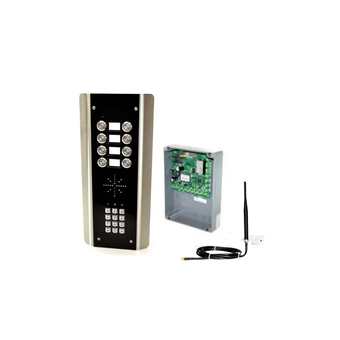 8 Button GSM Intercom Kit with Modem Module And Keypad