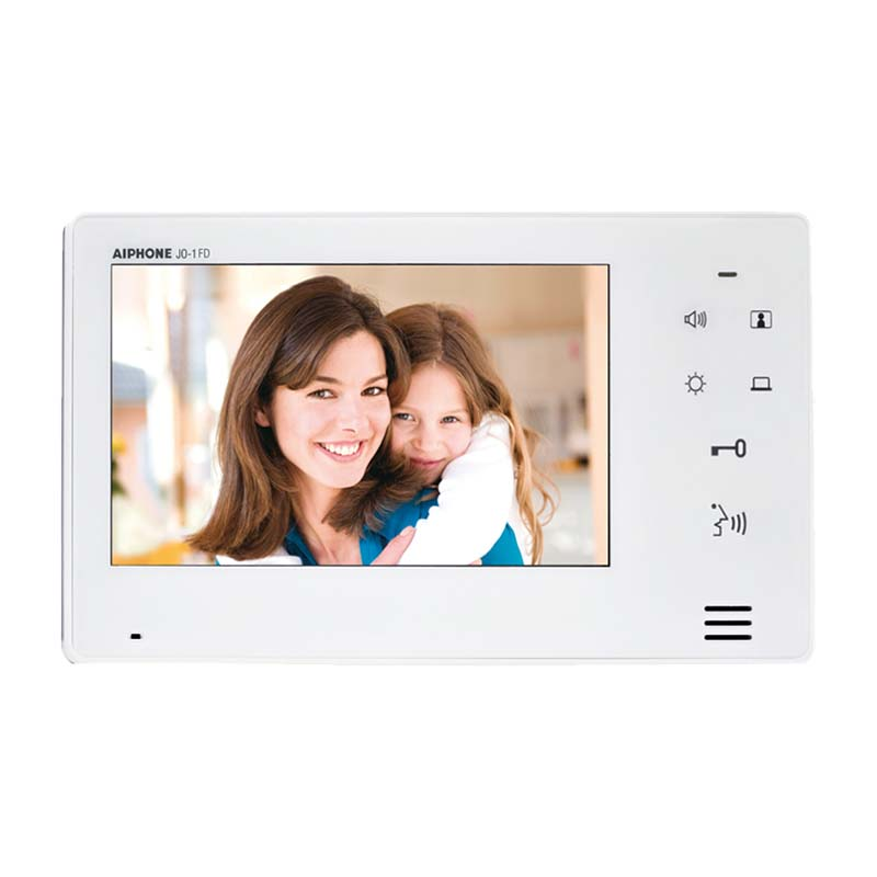 Aiphone - 7 inch Sub Video Monitor with Touch Sensitive Controls