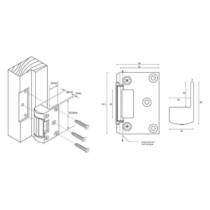 This model AL151 from Alpro is a product within Electric Locking from our extensive range at Door Entry Direct