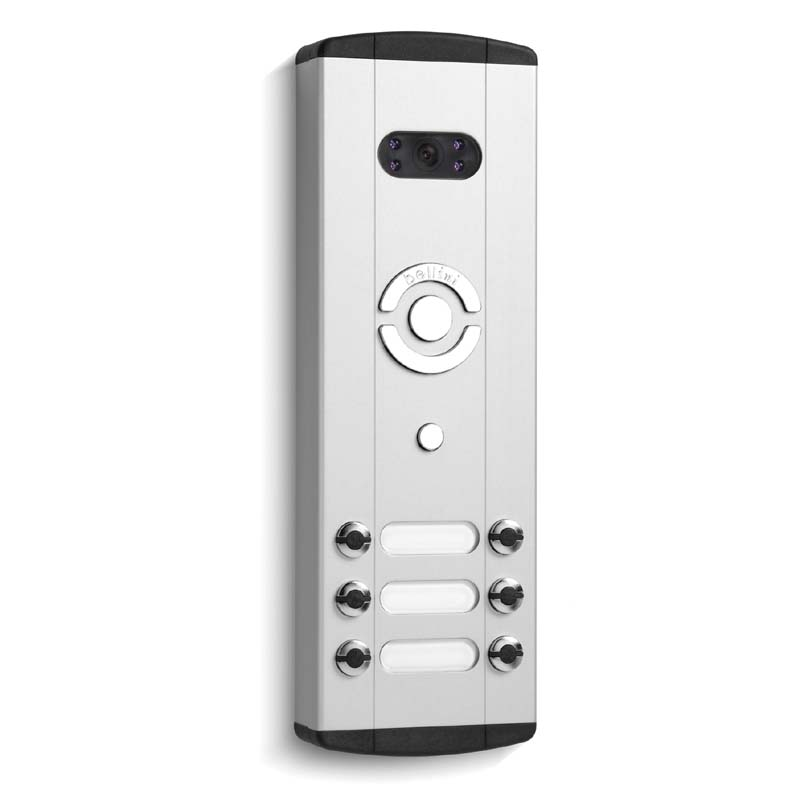 Bell System - 6 Call Button Surface Video Entry Aluminium Panel