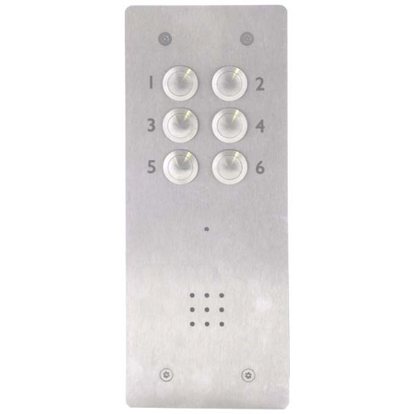BELL - 06 Call Button Flush Audio Entry Stainless Steel Panel