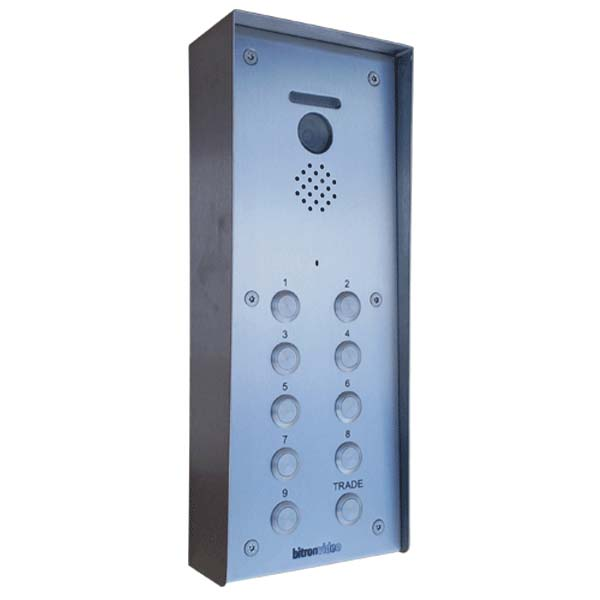 Bitron - 14 Button Surface Colour Video Vandal Resistant Entry Panel