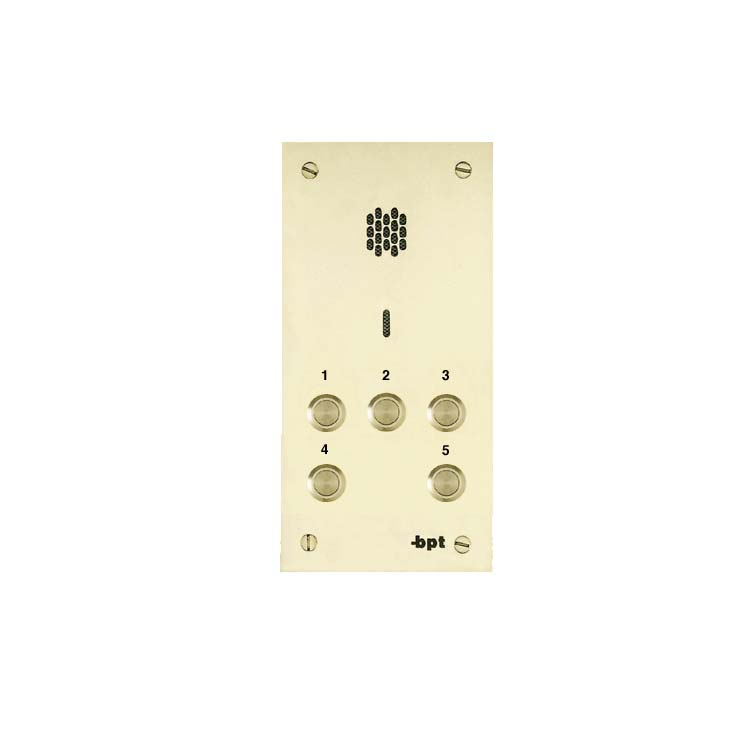 BPT 05 button, brass VR audio intercom panel