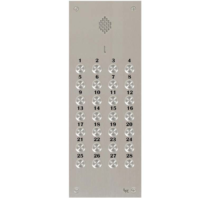 BPT - 28 Way Audio Vandal Resistant Panel for System 200
