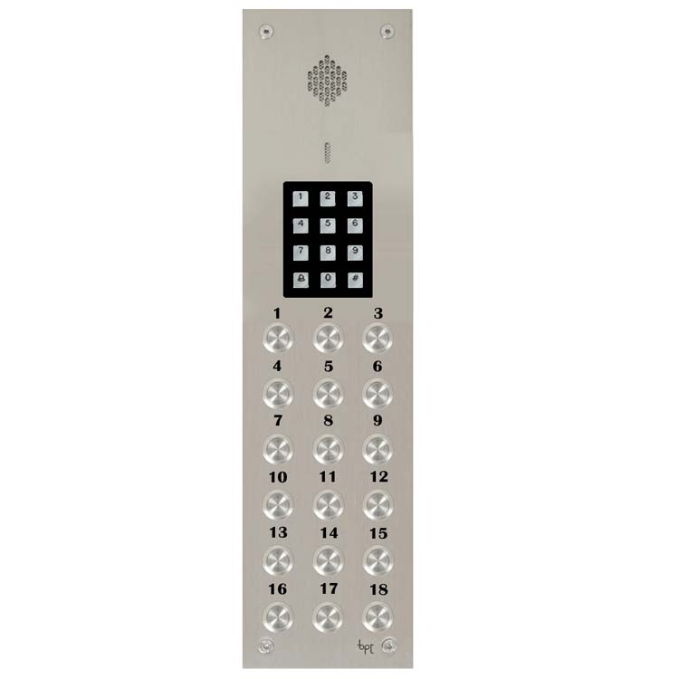 BPT - 18 Way Audio Vandal Resistant Panel with Keypad for System 200