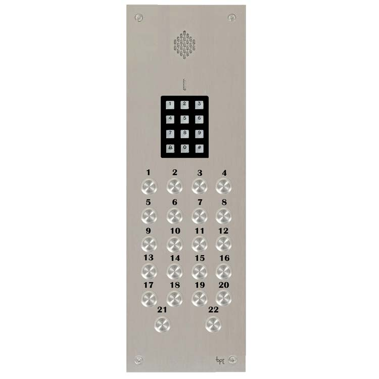 BPT - 22 Way Audio Vandal Resistant Panel with Keypad for System 300