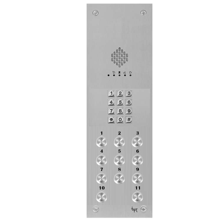 BPT - 11 Way Audio Vandal Resistant Panel with Keypad for X1 Systems