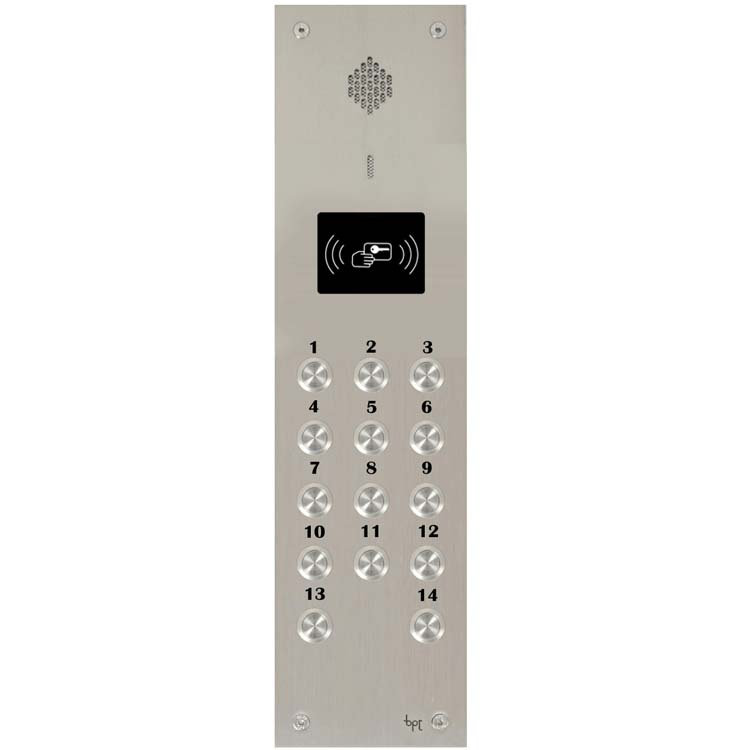 BPT - 14 Way Audio Vandal Resistant Proximity Panel for System 200