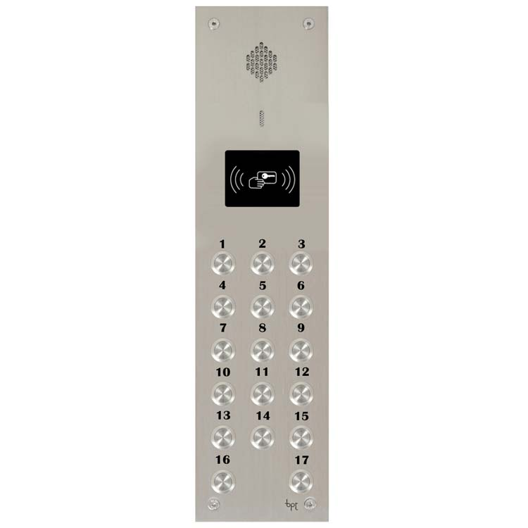BPT - 17 Way Audio Vandal Resistant Proximity Panel for System 200