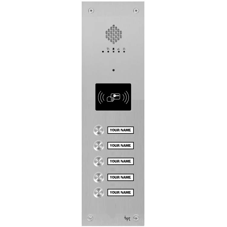 BPT - 5 Way Audio Vandal Resistant Proximity Panel for System X1