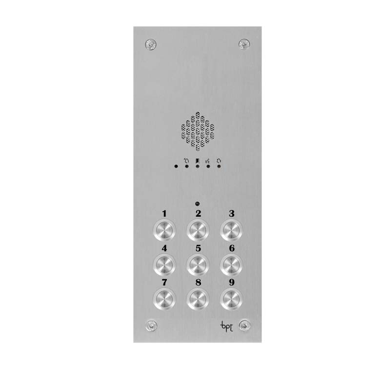 BPT - 9 Way Audio Vandal Resistant Panel for System X1