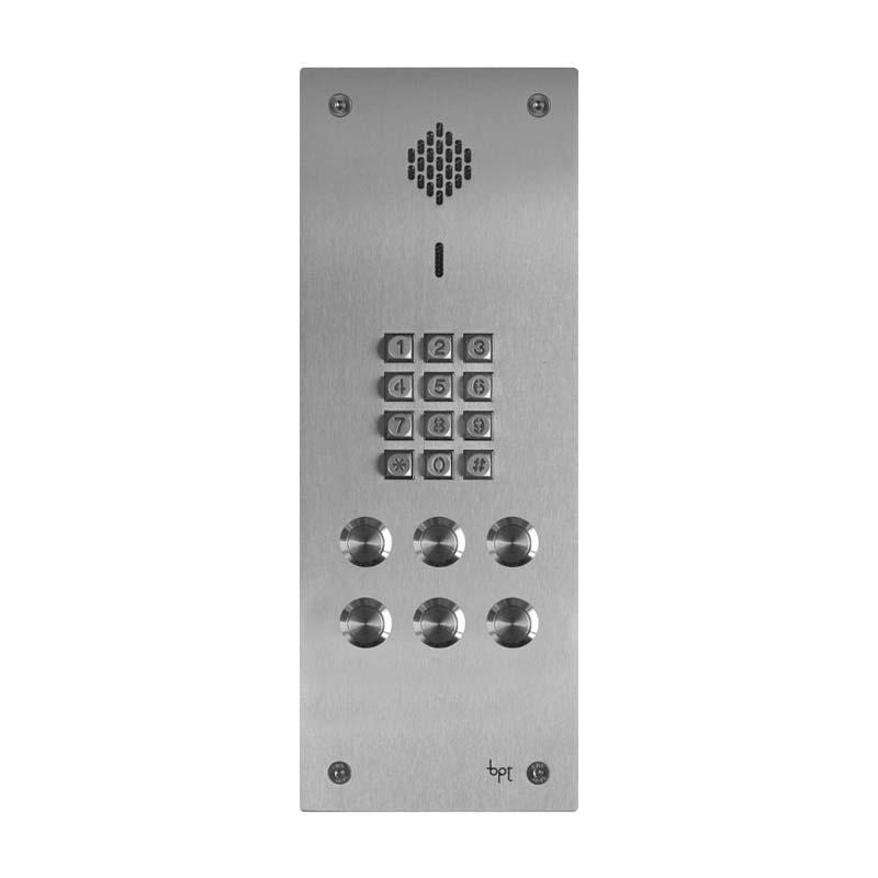 BPT - 6 Way Vandal Resistant Keypad Kit with Agata Handsets