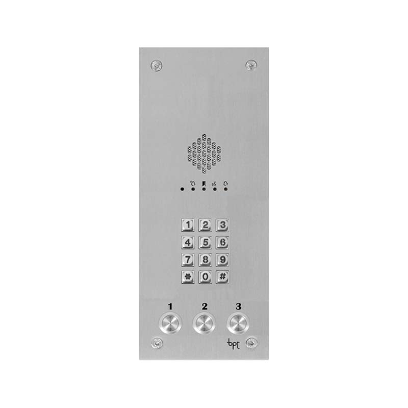 BPT - 3 Way Vandal Resistant Kit with Keypad and White Perla Units