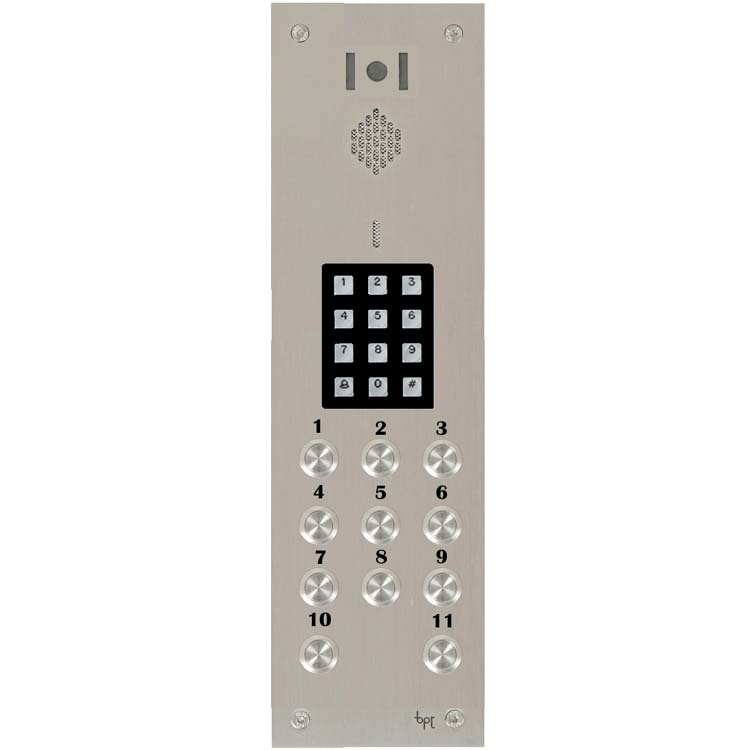 BPT - 11 Way Video Vandal Resistant Panel with Keypad for System 200