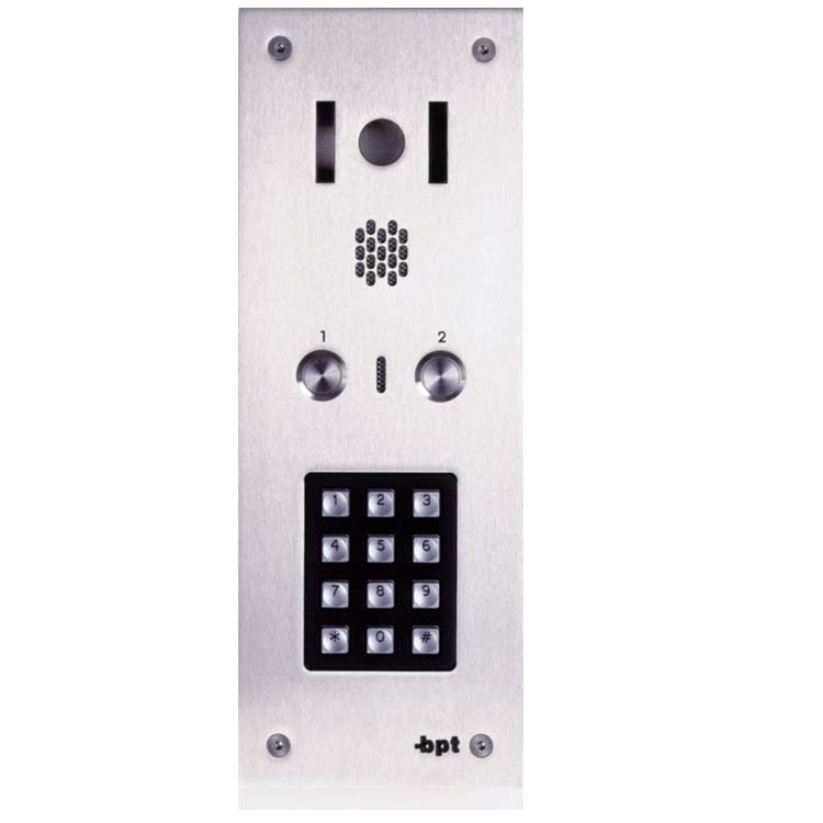 BPT 02 button, s.steel Sys 300, VR video panel, keypad