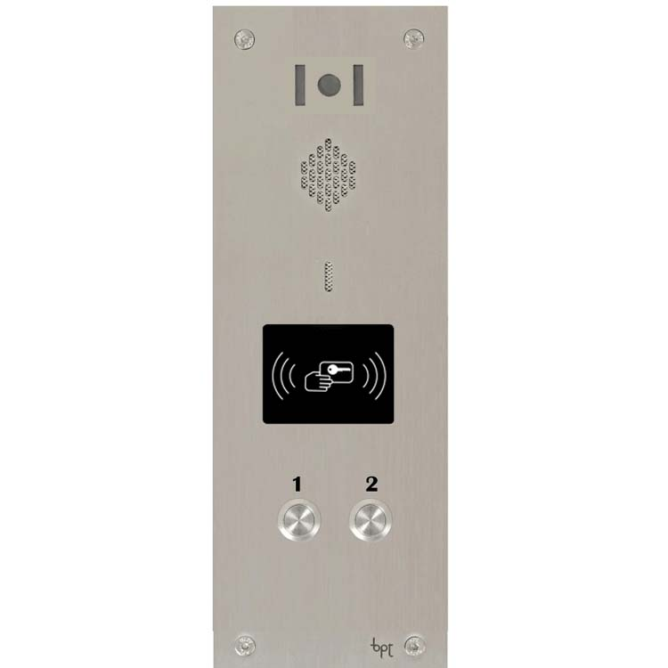 BPT 02 button, s.steel Sys 300, VR video panel, prox