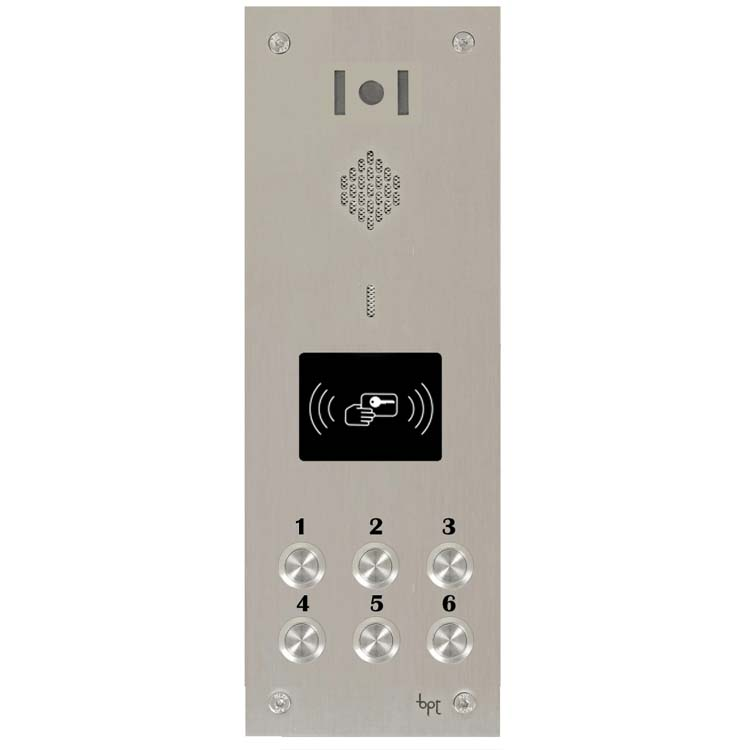 BPT 06 button, s.steel Sys 300, VR video panel, prox