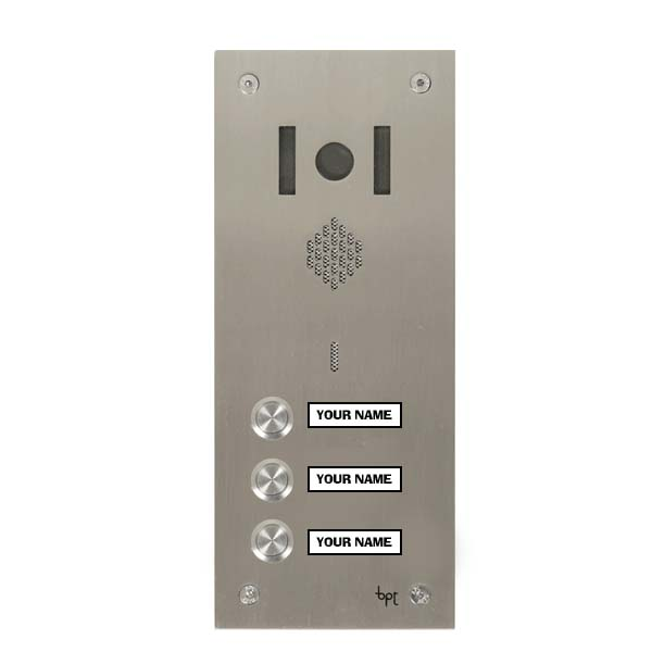 BPT 3 button, s.steel Sys 200, VR video panel, window