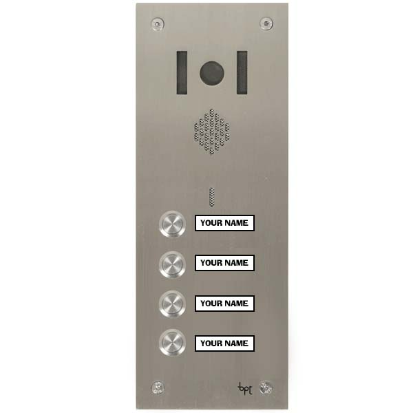 System 300 Vandal Resistant Video - 4 Button with makralon W