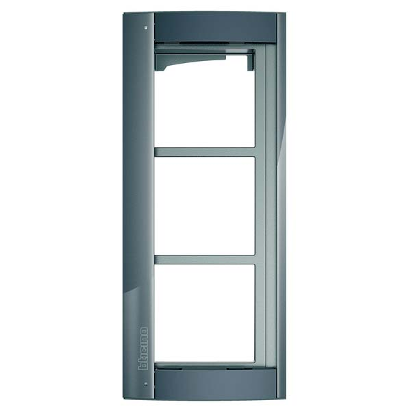 Bticino - 3 Module Grey Support Frame for Sfera Panel