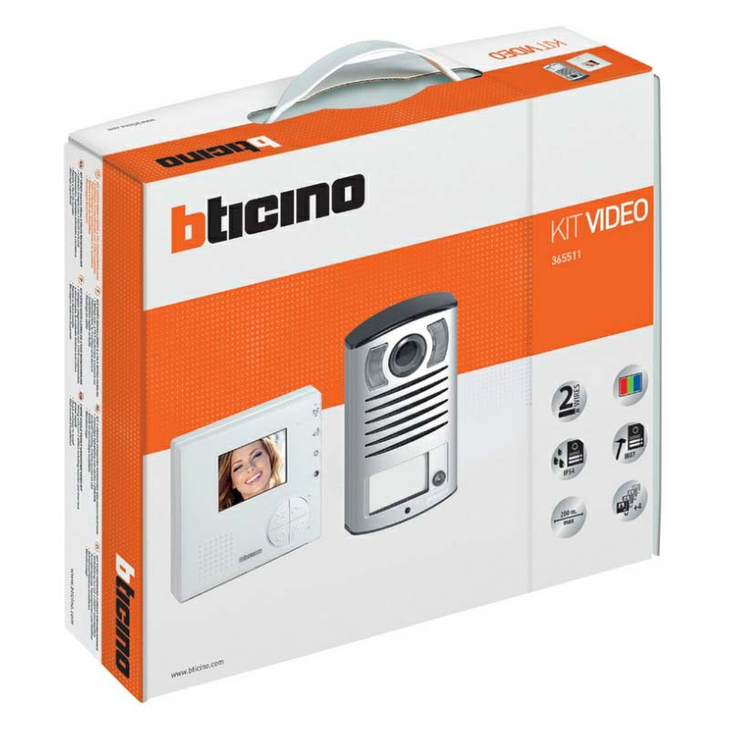 Bticino - 1 Way Linea 2000 Video Kit with Classe 100V12B Monitor