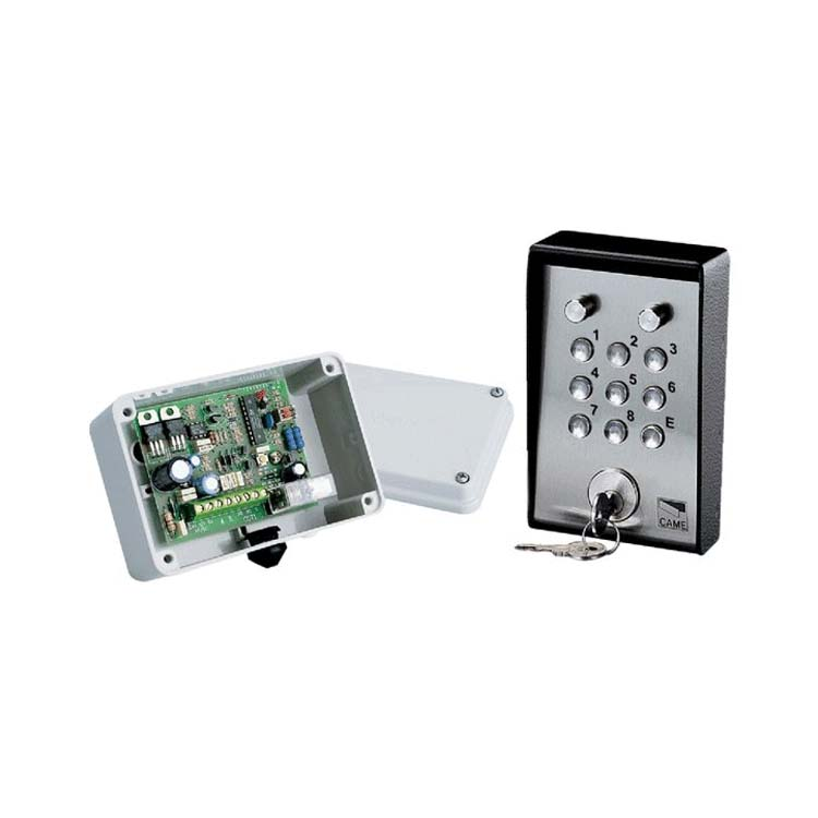 CAME Large illuminated surface keypad with 1 channel c/board