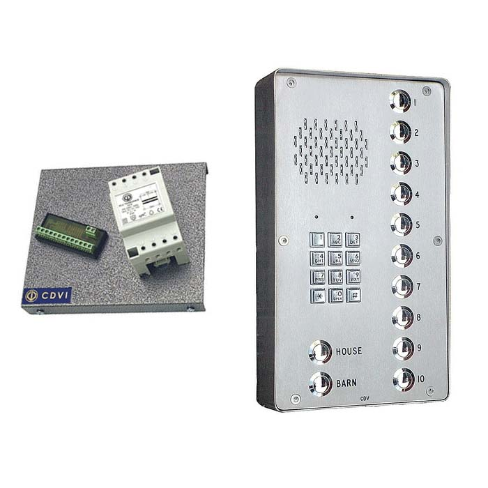 4 button surface panel with interface for BT line + keypad
