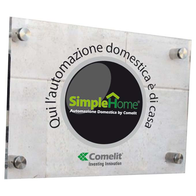Comelit Simplehome Information plate for exterior of home