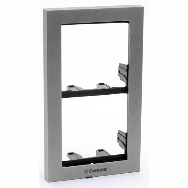 Comelit - iKall 2 Module Holder Frame with Cornice Silver
