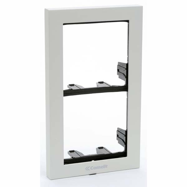Comelit - iKall 2 Module Holder Frame with Cornice White