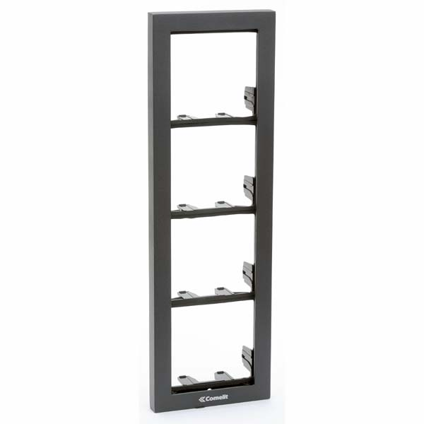 Comelit - IKall 4 Module Holder Frame with Cornice - Anthracite