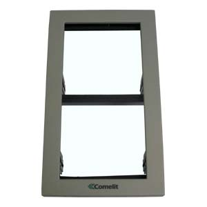 Comelit - iKall 2 Module Holder Frame with Cornices Grey