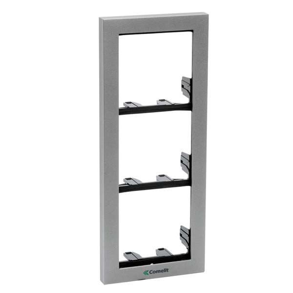 Comelit - iKall 3 Module Holder Frame with Cornice Grey