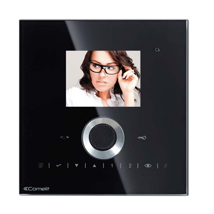Comelit - Planux Lux Colour Monitor in Black for VIP Systems