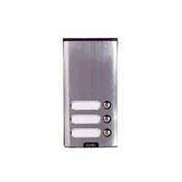 Elvox - 3 Way Push Button Only Surface Entry Panel
