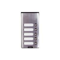 Elvox - 5 Way Push Button Only Surface Entry Panel