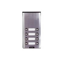 Elvox - 8 Way Push Button Only Surface Entry Panel