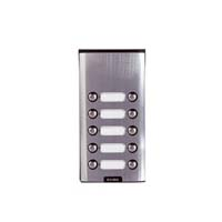 Elvox - 10 Way Push Button Only Surface Entry Panel