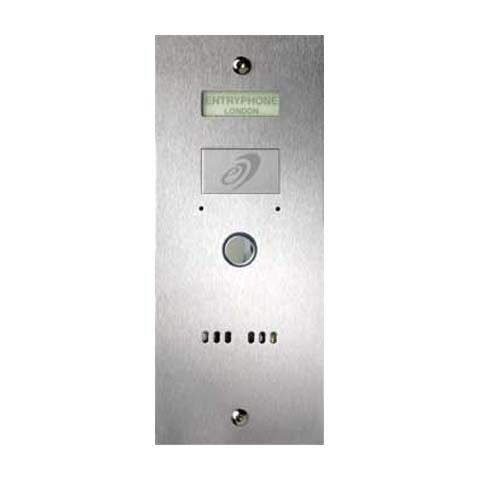 Entryphone - 1 Button Flush Brushed Stainless Steel Entrance Panel