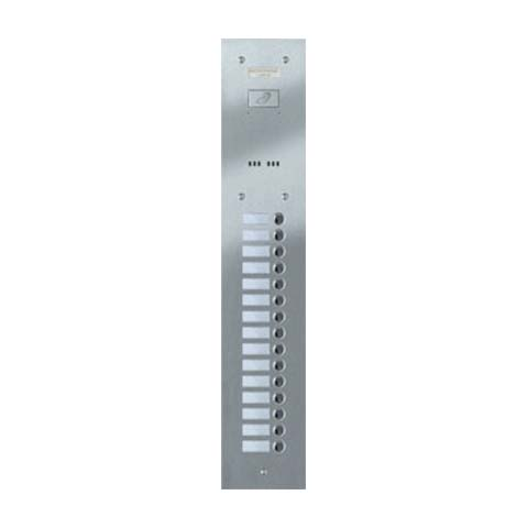 Entryphone - 15 Button Flush Brushed Stainless Steel Entrance Panel