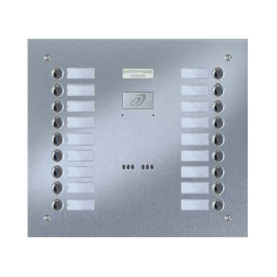 Entryphone - 18 Button Flush Brushed Stainless Steel Entrance Panel