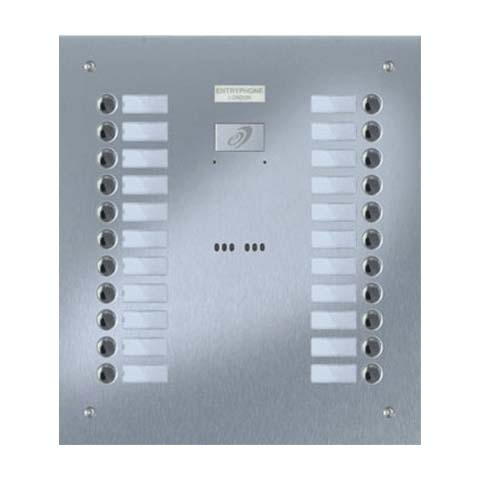 Entryphone - 22 Button Flush Brushed Stainless Steel Entrance Panel