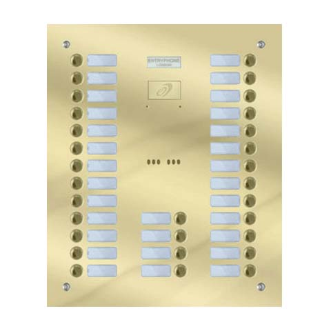 Entryphone - 30 Button Flush Polished Brass Entrance Panel