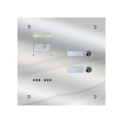 Entryphone - 2 Button Polished Stainless Steel Entrance Panel