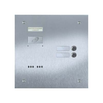 Entryphone - 2 Button Flush Brushed Stainless Steel Entrance Panel