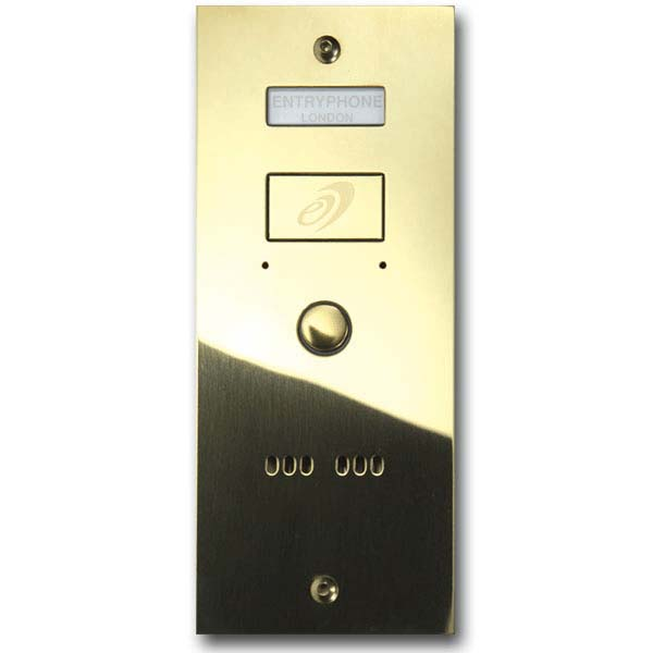 Entryphone - 1 Button Surface Polished Brass Entrance Panel